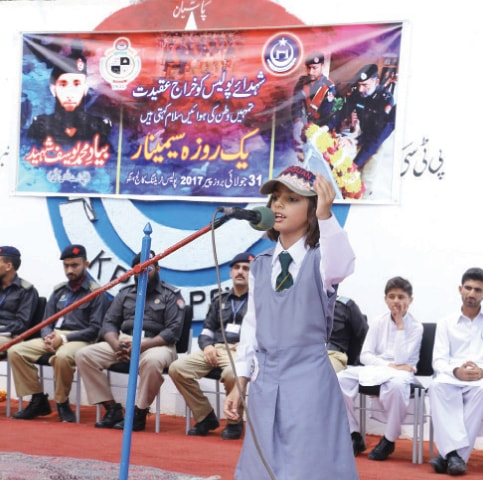 Speech competition held to honour police martyrs - Newspaper