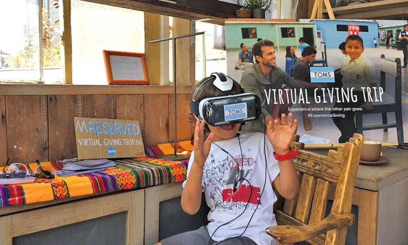 TOMS' Virtual Giving Trip is an example of how brands have started using VR in their communication for providing immersive experience to their audiences.