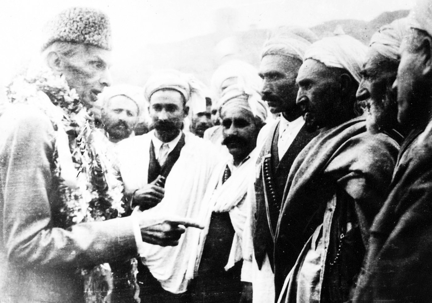 Quaid-i-Azam Mohammad Ali Jinnah in Landi Kotal on April 11, 1948. — Courtesy National Archives Islamabad