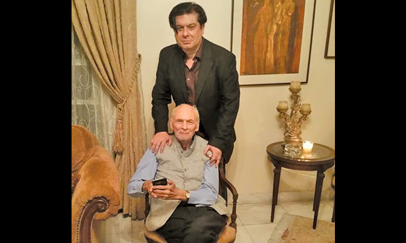Anwar Mooraj with his son Shamyl Mooraj.