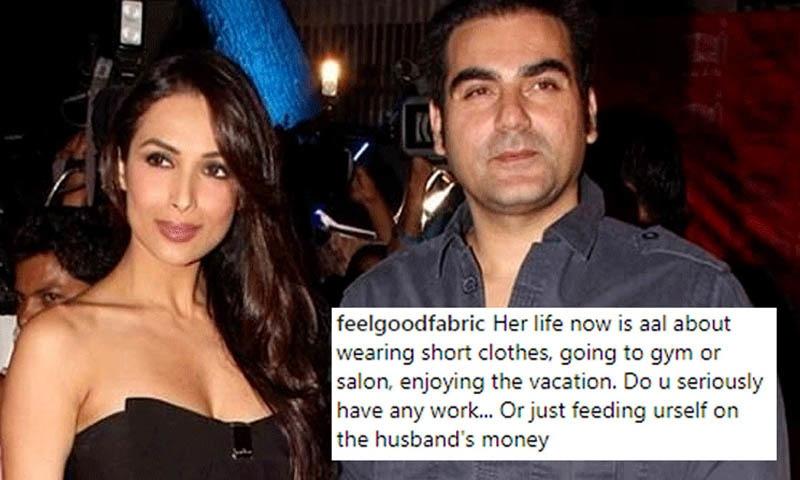 ارباز خان کی سابق اہلیہ کو انسٹاگرام پر ایک صارف نے 'لالچی' کہا—۔