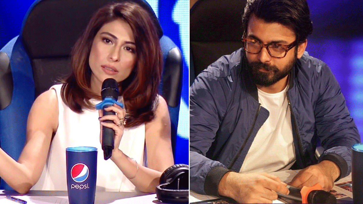 Meesha Shafi and Fawad Khan, part of the judges panel. Photo: Meesha Shafi/Artistan Mag/Instagram