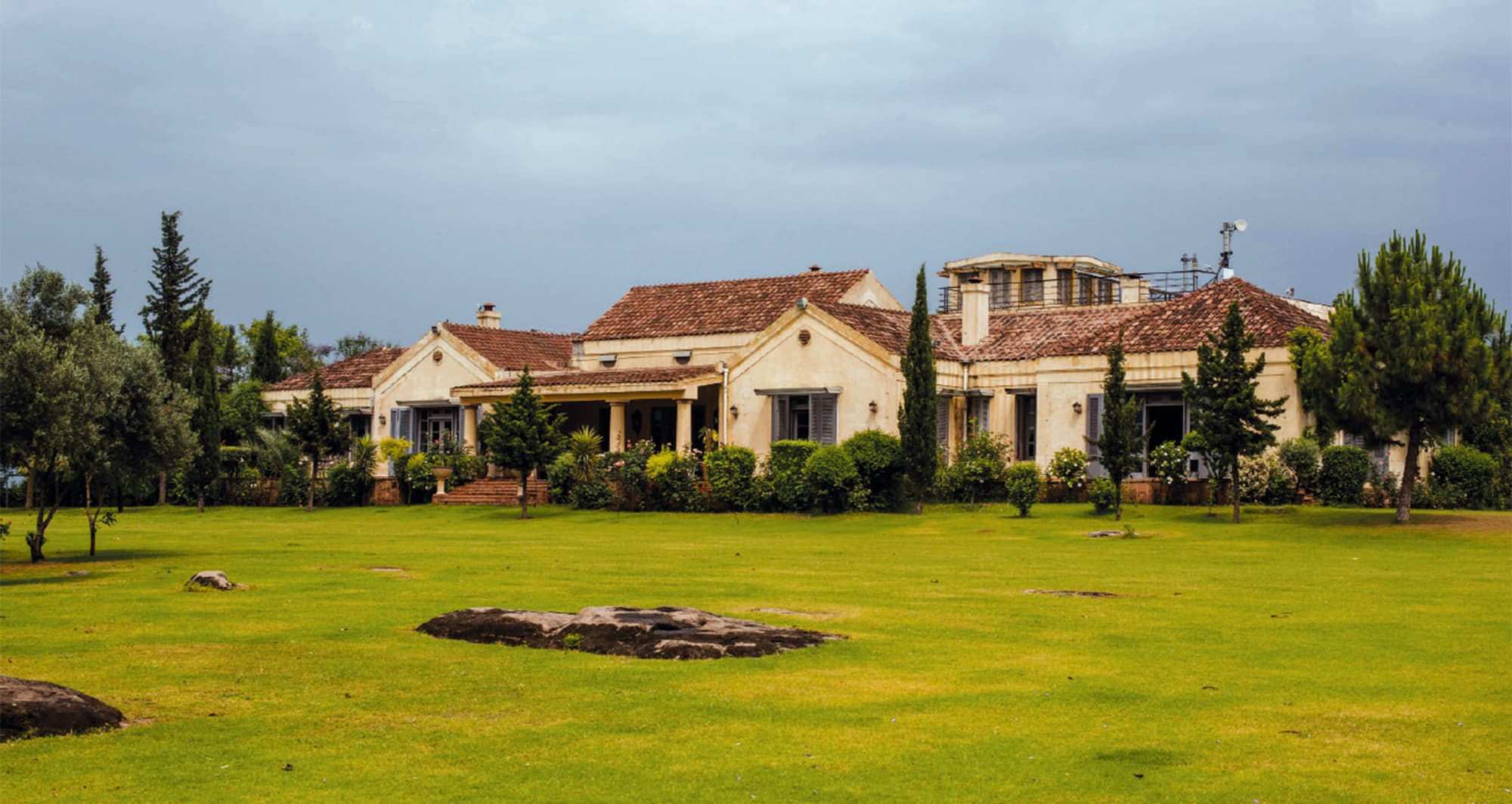 The front lawn of Imran Khan's Bani Gala mansion. ─ Mohammad Ali/White Star
