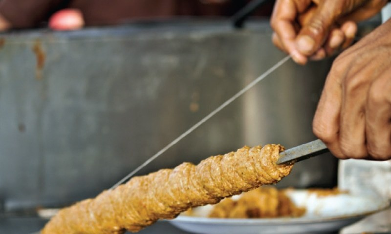 The star of the menu, however, has to be the dhaga kebab.