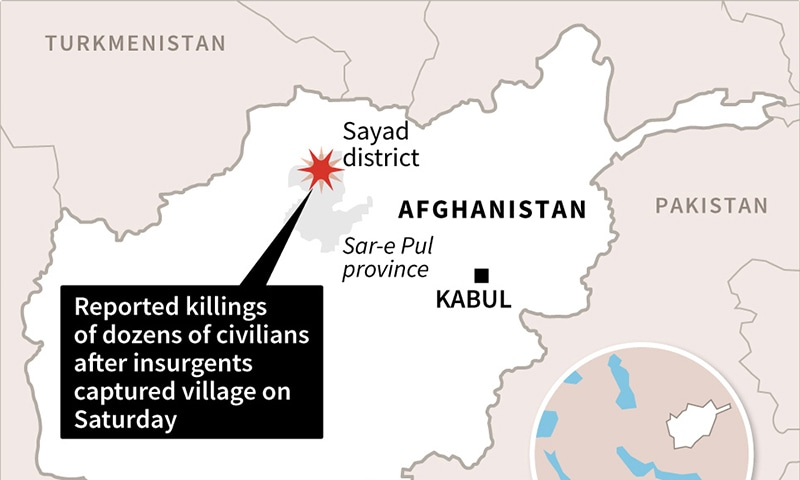A map of the village allegedly jointly attacked by both militant groups. — AFP