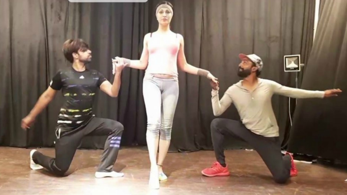 Rimal with her choreographers and trainers Wahab and Nigar Hussain