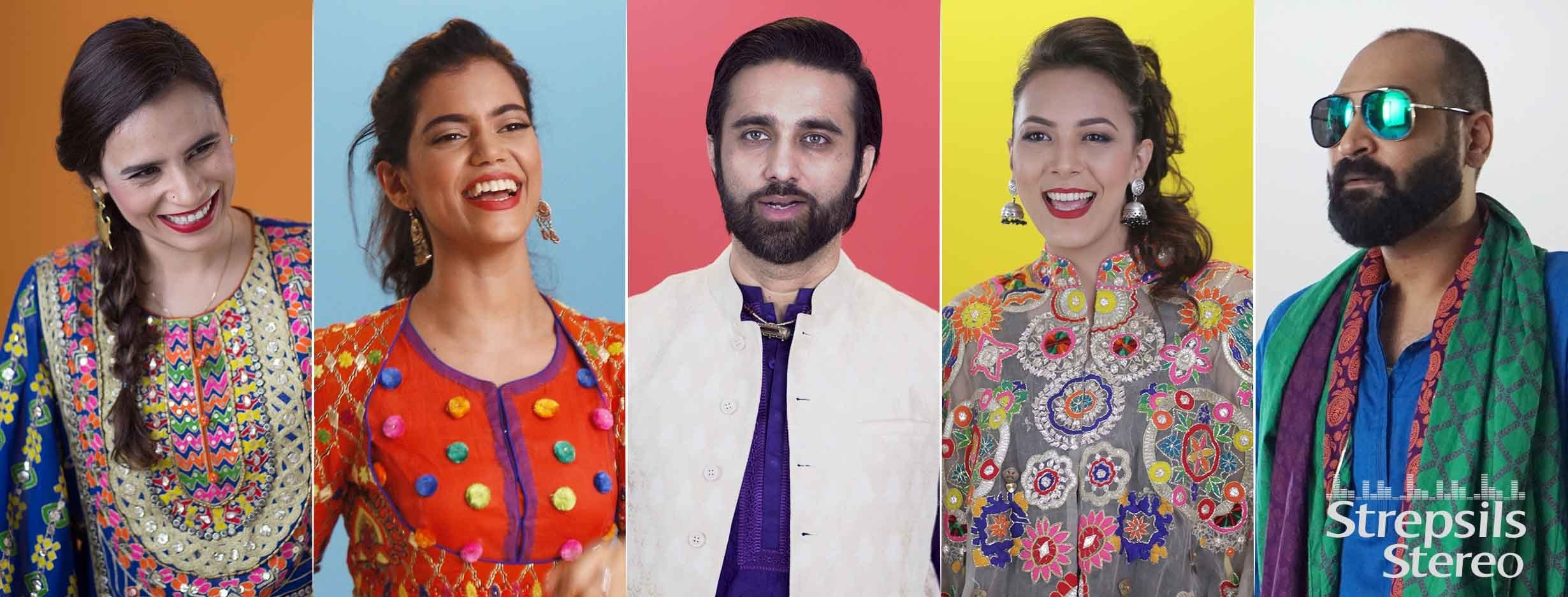 The five artists in this song are Ali Noor, Sara Haider, Zoe Viccaji, Rachel Viccaji and Ahsan Pervez Mehdi.