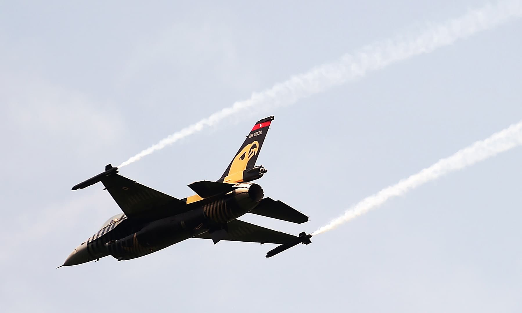 """The """"Solo Turk"""" performs during the celebration to mark Pakistan's Independence Day in Islamabad. —AFP"""