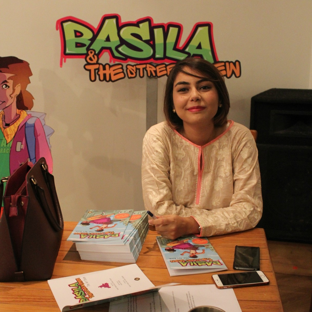 Anain Shaikh is the co-creator, co-writer and illustrator of Basila