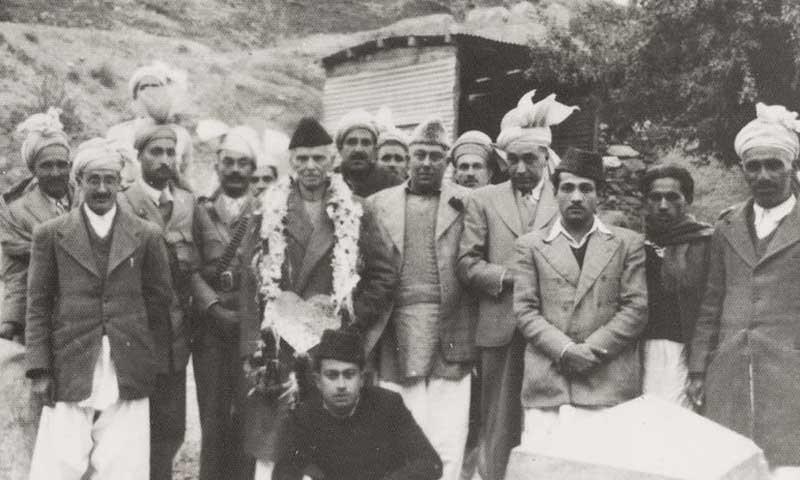 Quaid-i-Azam Mohammad Ali Jinnah poses with Tribal Maliks in Landi Kottal, in April 1948 — Dawn/ White Star Archives, Karachi