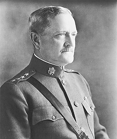 There's no truth to the story that General John J. Pershing (above) ever told his soldiers to execute Filipino Moro Muslim fighters with bullets dipped in pigs' blood.