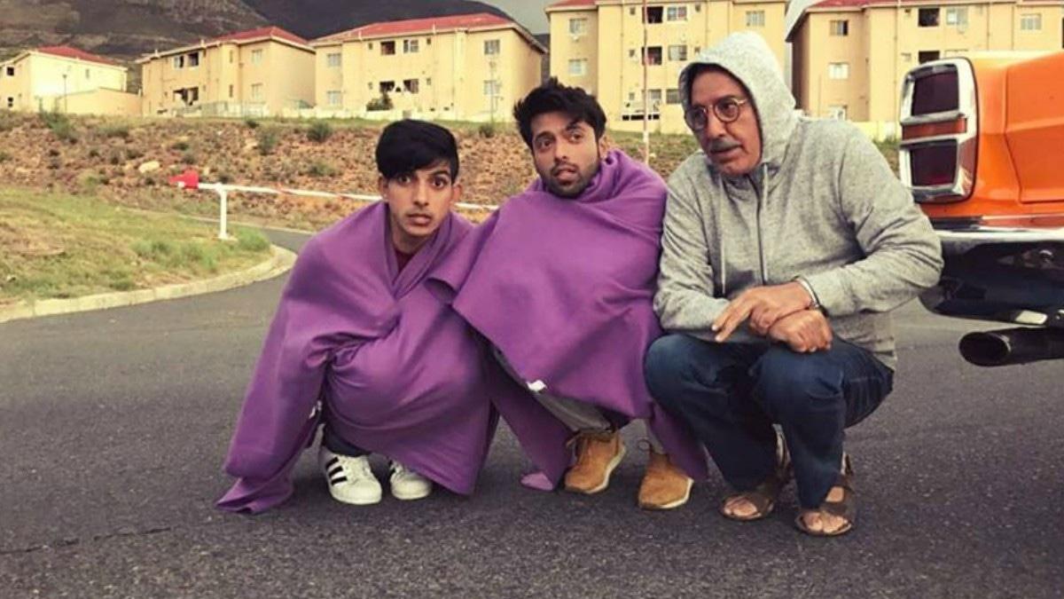 Mohsin with co-actors Fahad Mustafa and Javed Sheikh