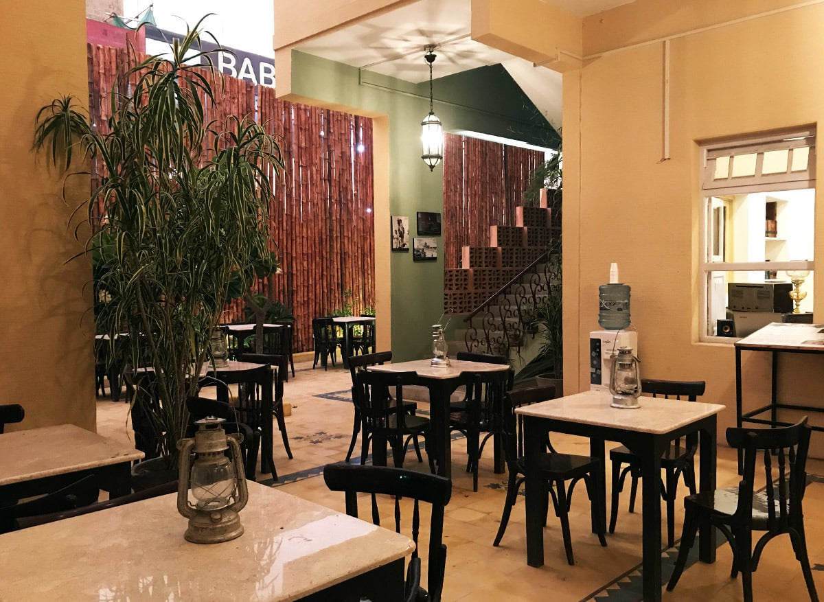 The Sehan Café is located in the courtyard of the house.