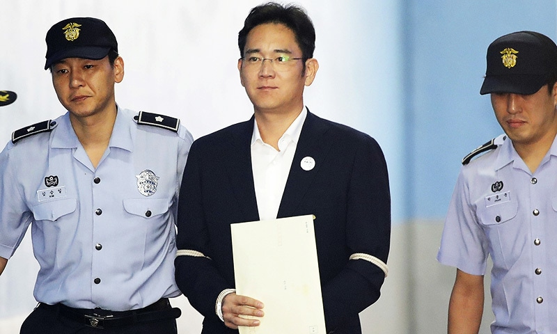 Samsung heir jailed for five years on corruption charges