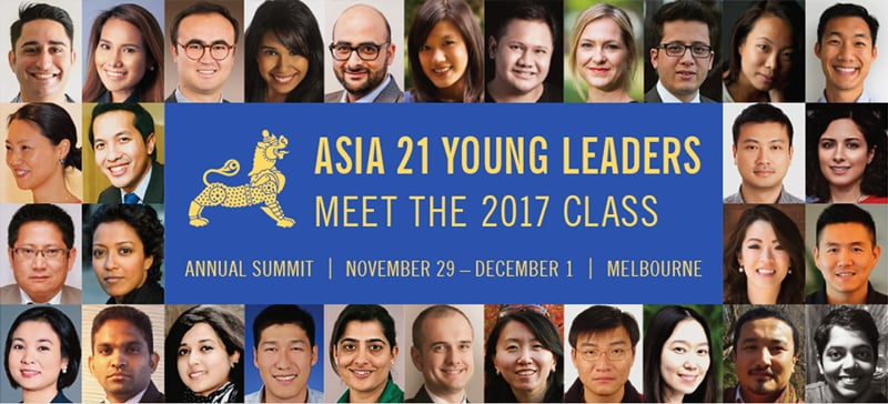 The 2017 class of Asia 21 Young Leaders.— Photo courtesy: asiasociety.org
