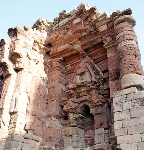 The remains show how Greek building traditions were fused with local temple architecture.