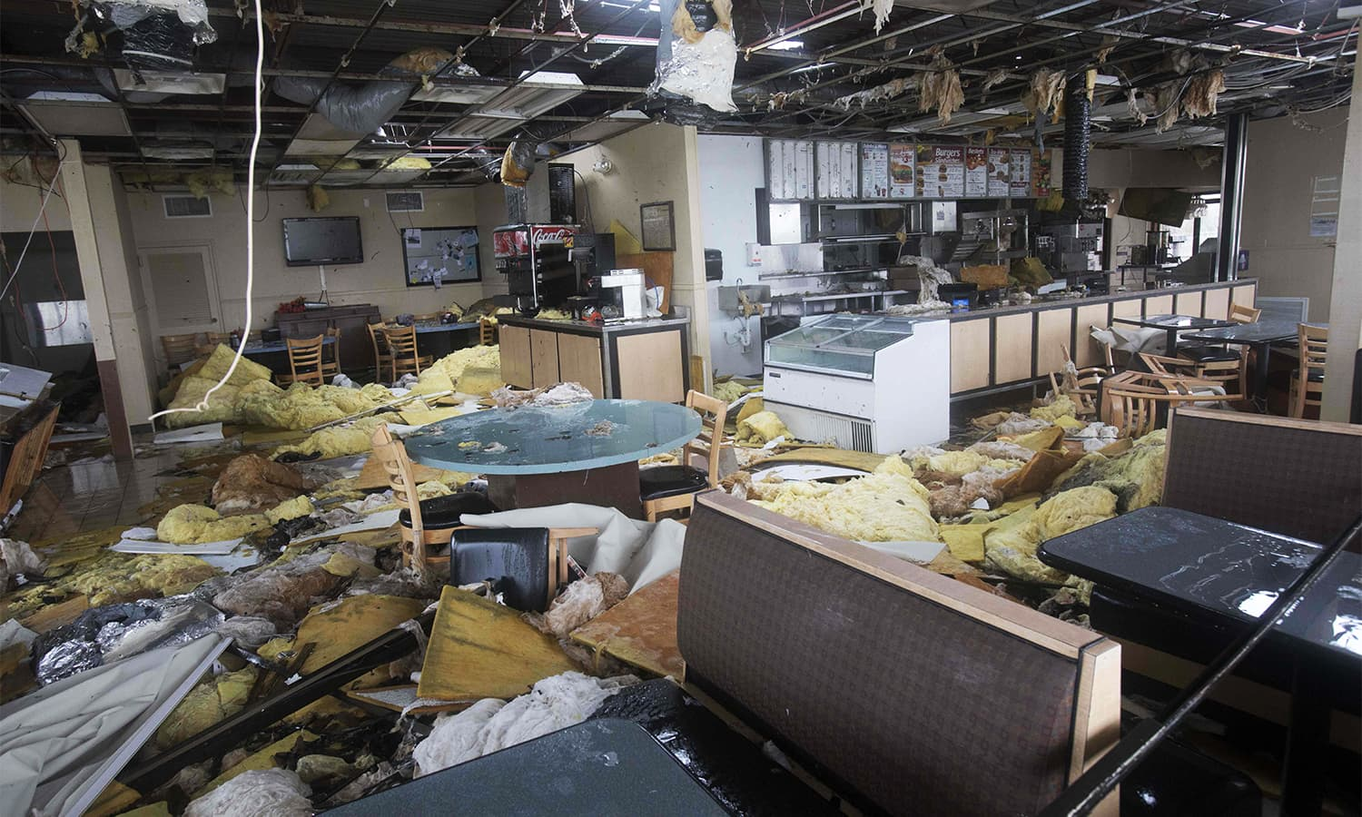 A Dairy Queen restaurant in South Texas was almost completely destroyed by Hurricane Harvey. — AFP