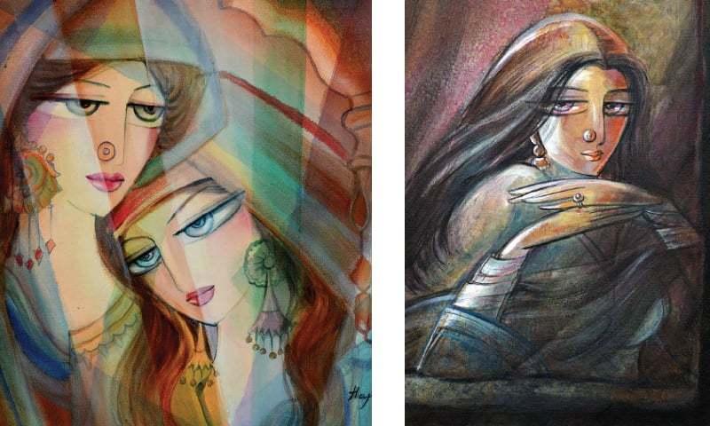 Paintings by Ms Mansoor.