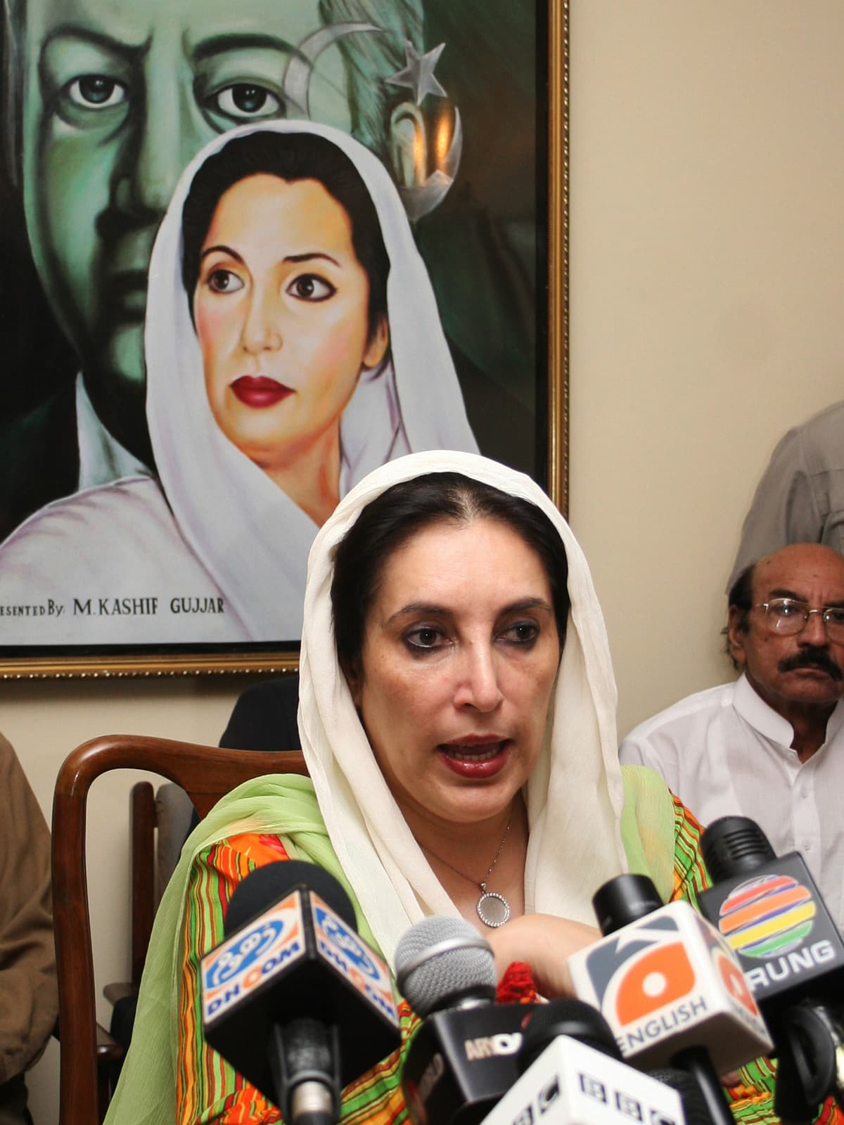 Benazir Bhutto at a press conference in 2007 | White Star