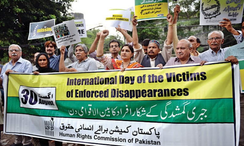 HRCP holds demo against enforced disappearances