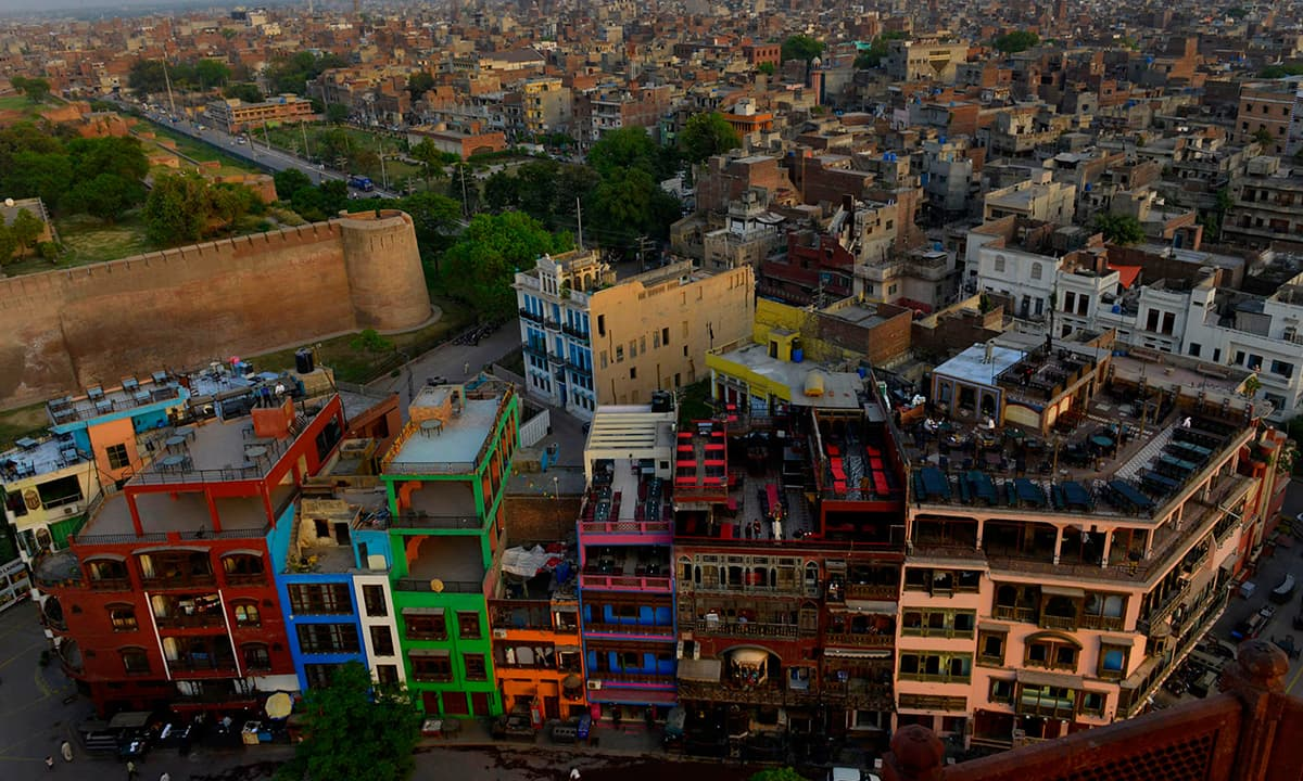 An aerial view of the Old City of Lahore | M Arif, White Star