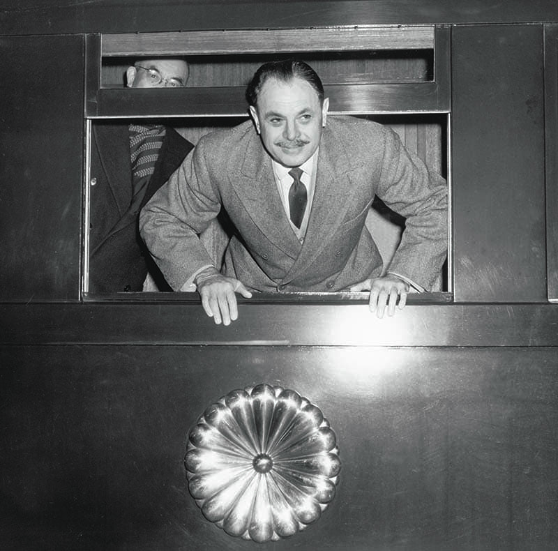 President Mohammad Ayub Khan is seen smiling as he leaned out of his train on his way to a US Marine Base in Okinawa, Japan, in December, 1960. During his tenure, Ayub worked actively on building up the image of the country in the eyes of the world. In doing so, his own persona came pretty handy. — Photo: The Tahir Ayub Collection