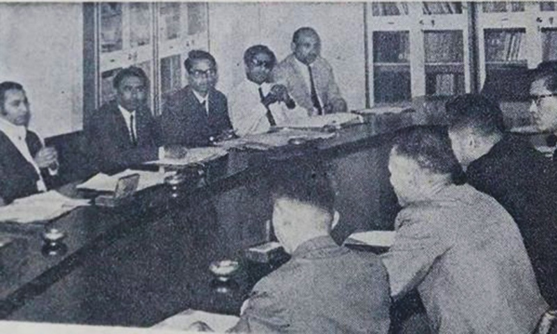A North Korean delegation in Pakistan in 1971.—Dawn