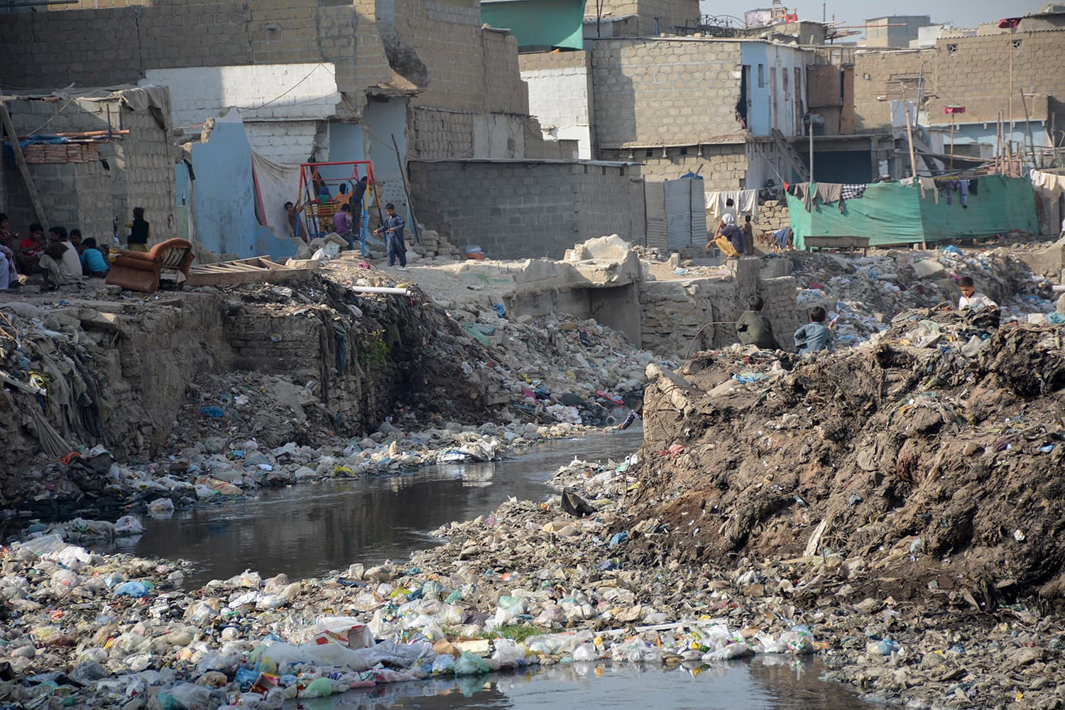 Moosa Colony, Gujjar Nalah: Most of the natural drains in the city are encroached upon.