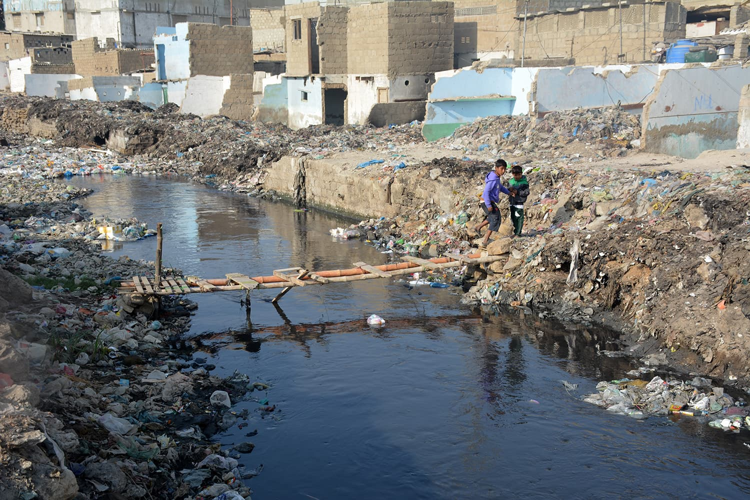 The drains are unable to carry to water as they are choked and their size capacity reduced.—Amar Guriro