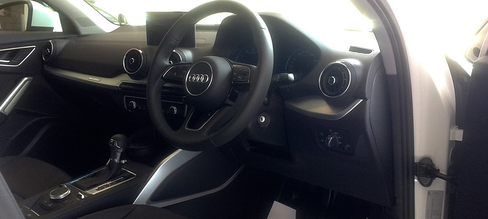 Minimalist interior of the Q2 does make an impression.