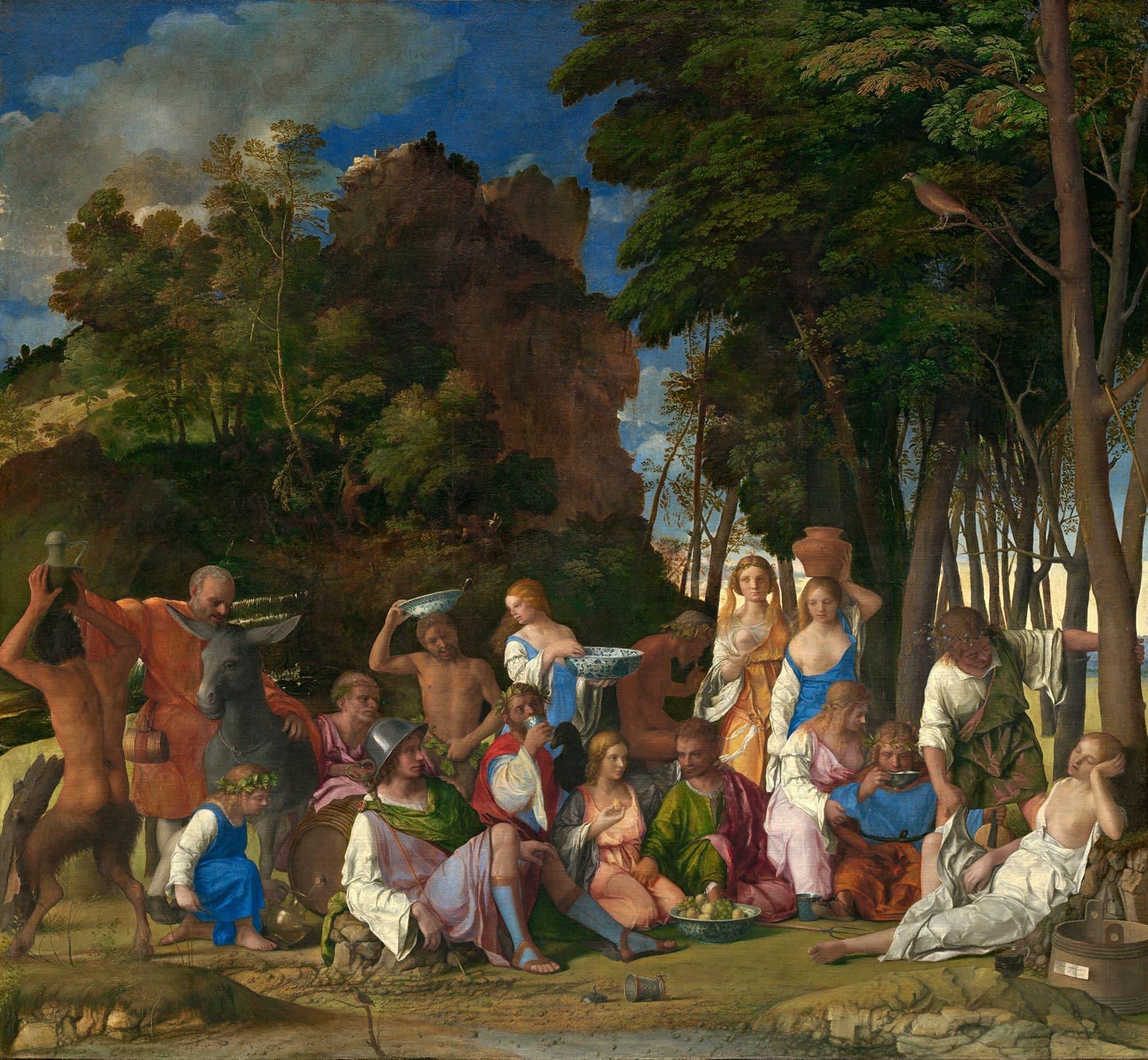 ٹیژیانو اور بیلینی کی شاہکار پینٹنگ 'خداؤں کی ضیافت'۔