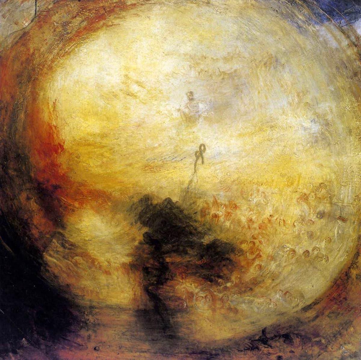 جوزف ٹرنر کی پینٹنگ، جس میں حضرت موسیٰ علیہ السلام کے کوہِ طور پر جانے اور خدا کے دیدار کی تصویر کشی کی گئی ہے۔
