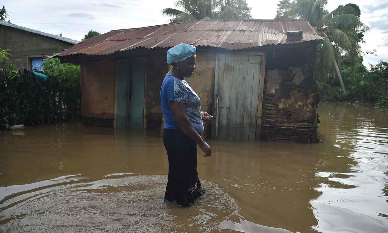 ارما نے ہیٹی میں بھی تباہی پھیلائی—فوٹو: اے ایف پی