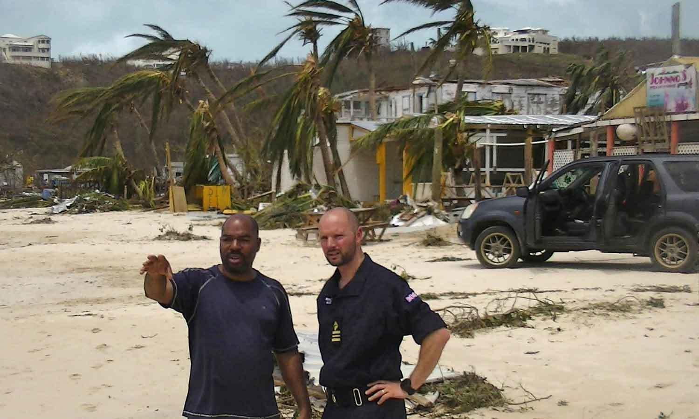 جزیرہ انگولیا کو بھی ارما نے تباہ کردیا—فوٹو: اے پی