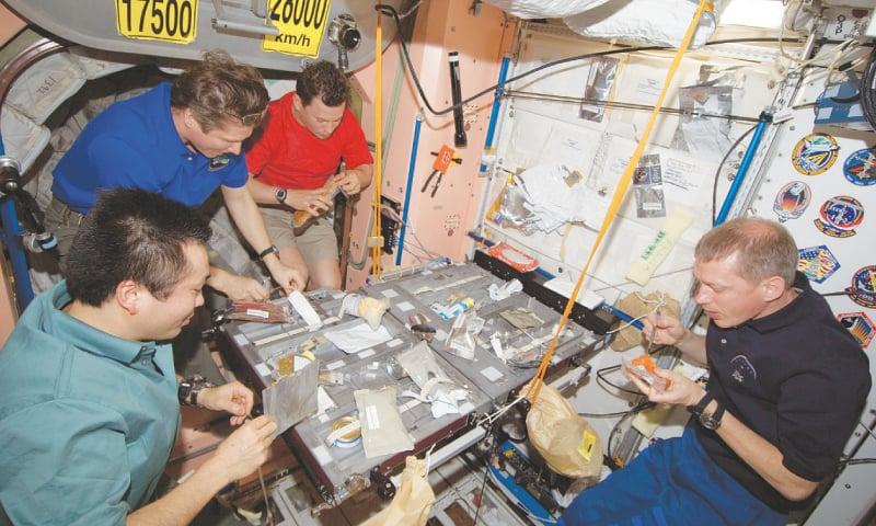 Eating in space / Photos courtesy: Nasa/ ESA