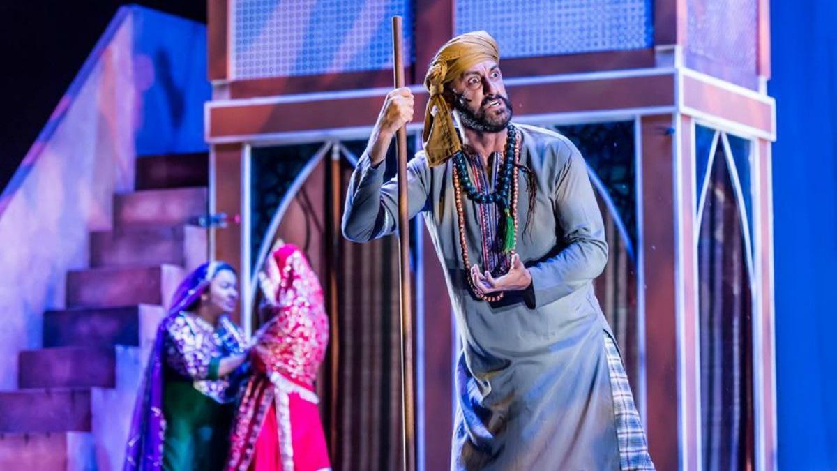 Adnan Jaffer during an intense moment of the musical