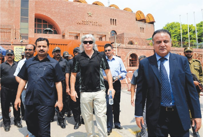 The ICC inspection team checking the security arrangements | Murtaza Ali /White Star