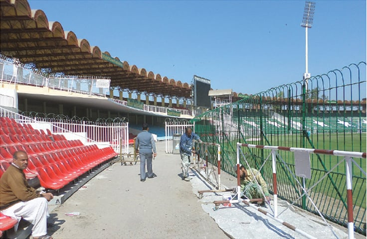 PCB workers put final touches to renovation works at the Gaddafi Stadium | SH