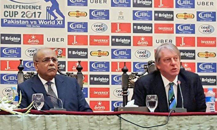 Chairman of ICC Task Force congratulates the Pakistani people over the revival of cricket. —PCB