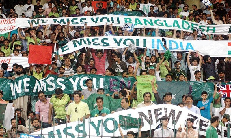 Pakistani fans during the visit of of Zimbabwe in 2015, the last time an international side visited Pakistan.