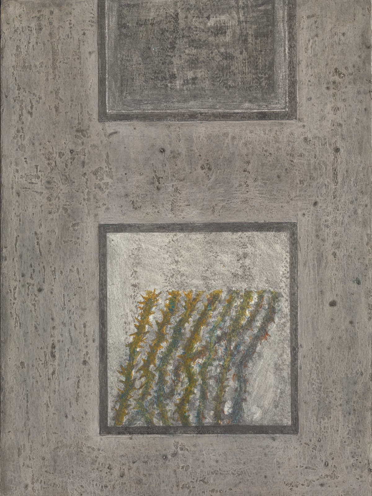 Untitled, 1992–3, acrylic paint on wood, by Zahoor ul Akhlaq | © Estate of Zahoor ul Akhlaq, Courtesy Tate, London. (Purchased with funds provided by the South Asia Acquisitions Committee 2015)