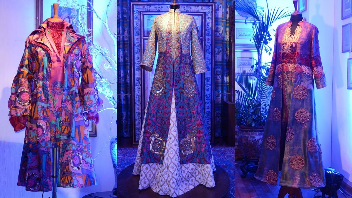 Most of The Blue Tulip collection was displayed on mannequins all through the ground floor of Shamaeel Ansari's residence