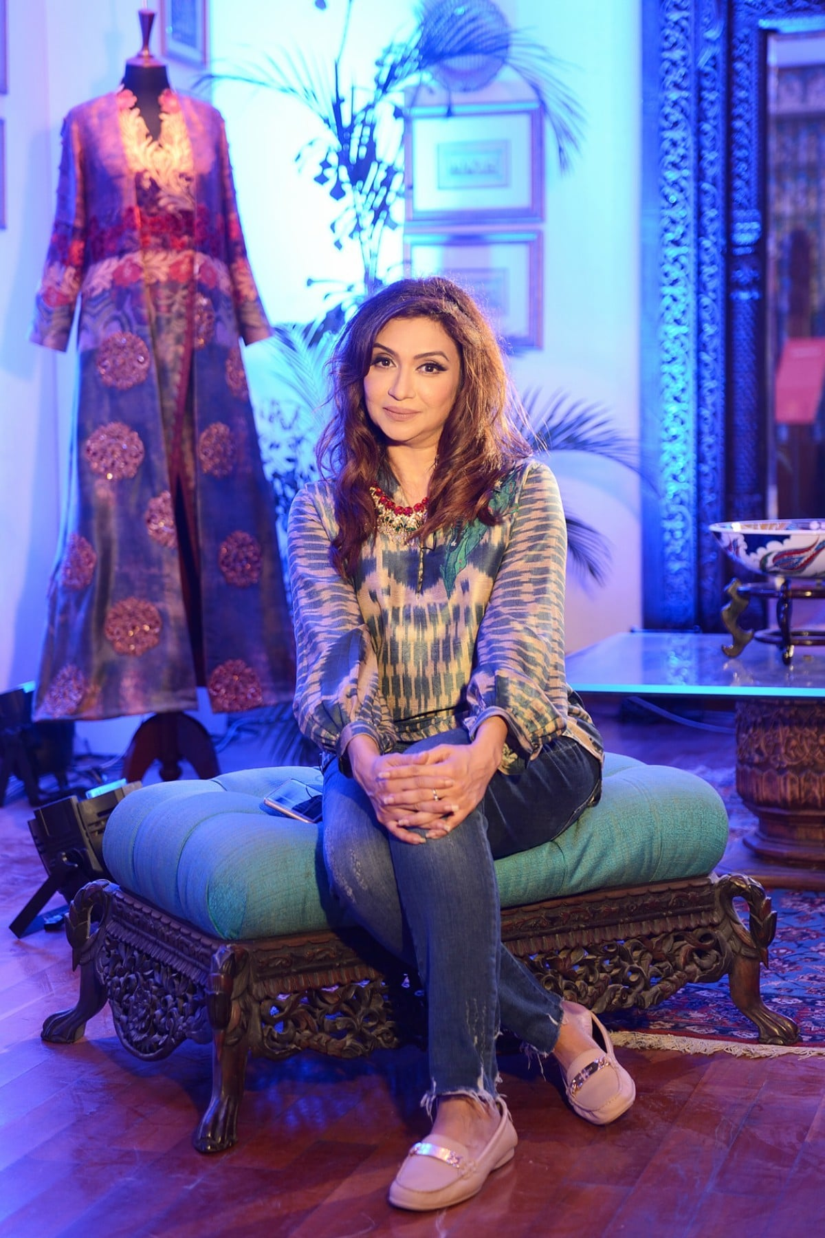 Shamaeel Ansari kicked off FPW Winter/Festive with a solo show at her house