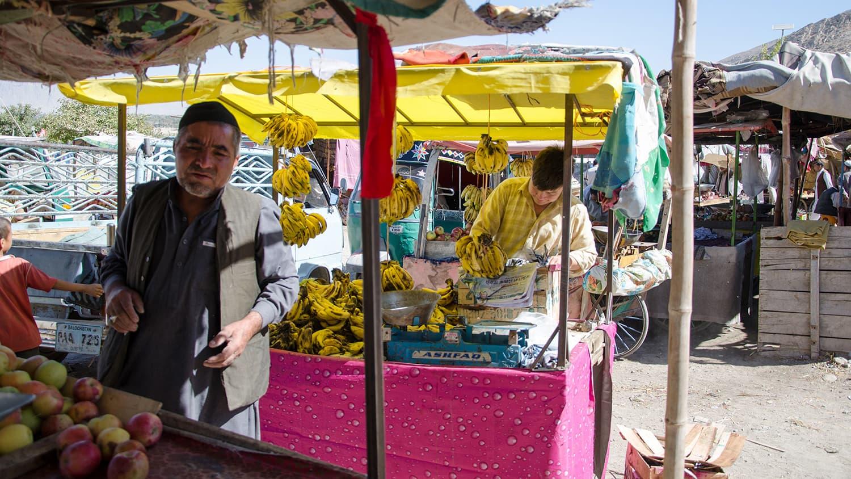 Fruit sellers at a marketplace in Quetta's Hazara Graveyard.—Saadat Ali