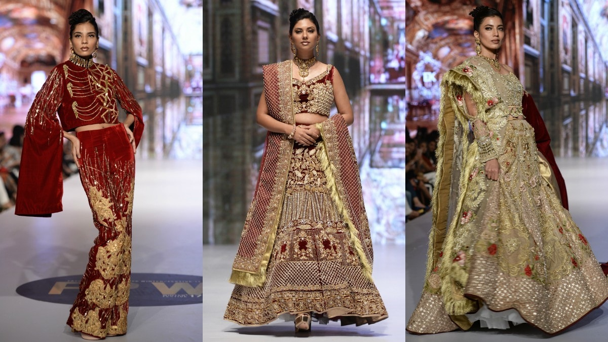 Erum Khan's 'Bridal Odyssey' was replete with an overdose of thick embroideries