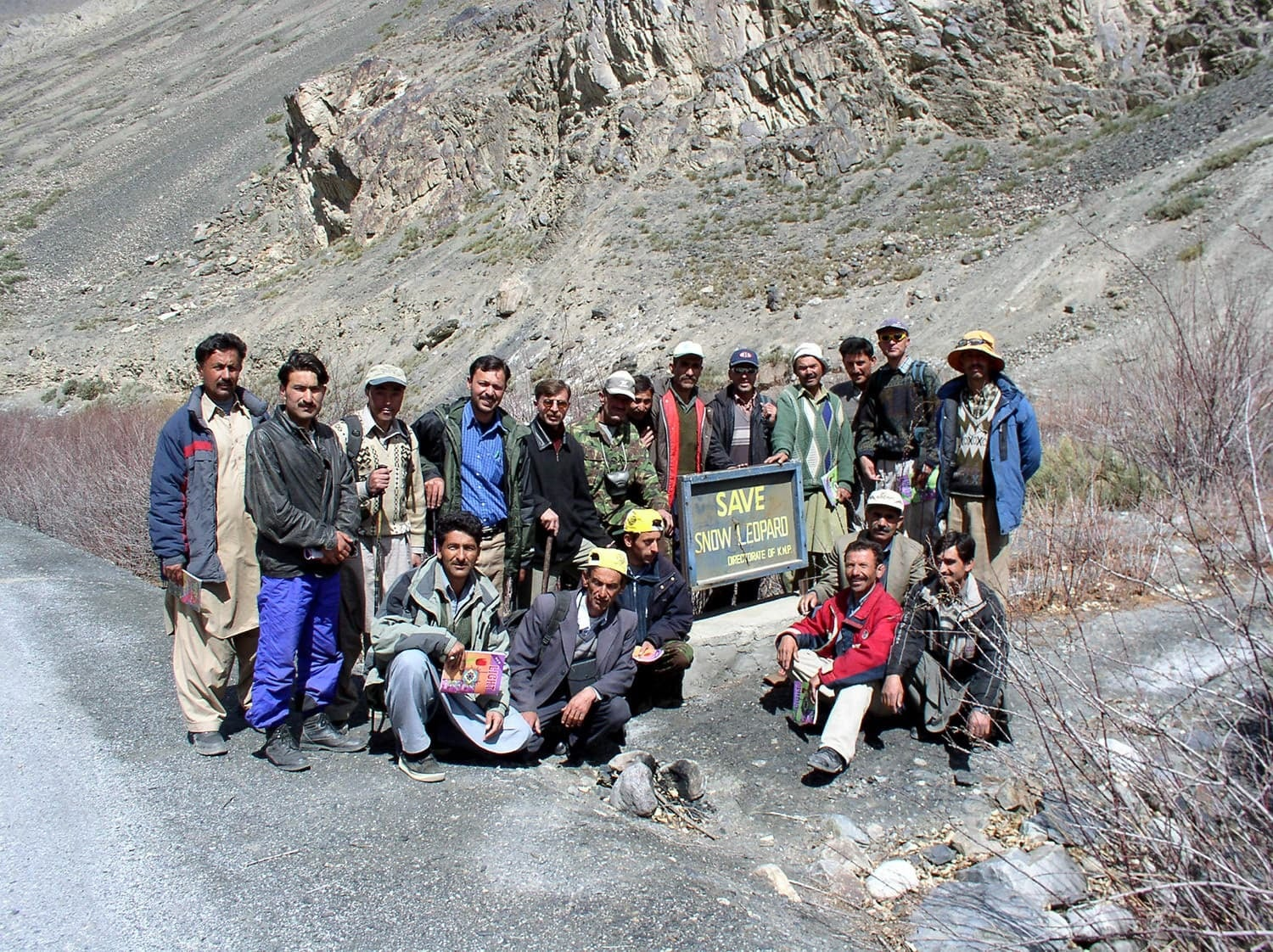 Local villagers with members of the BWCDO during a wildlife survey in the area. -All photos by Ghulam Mohammad, the General Manager of the BWCDO