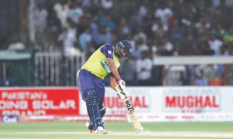 WORLD XI batsman Thisara Perera hits the winning six.—White Star