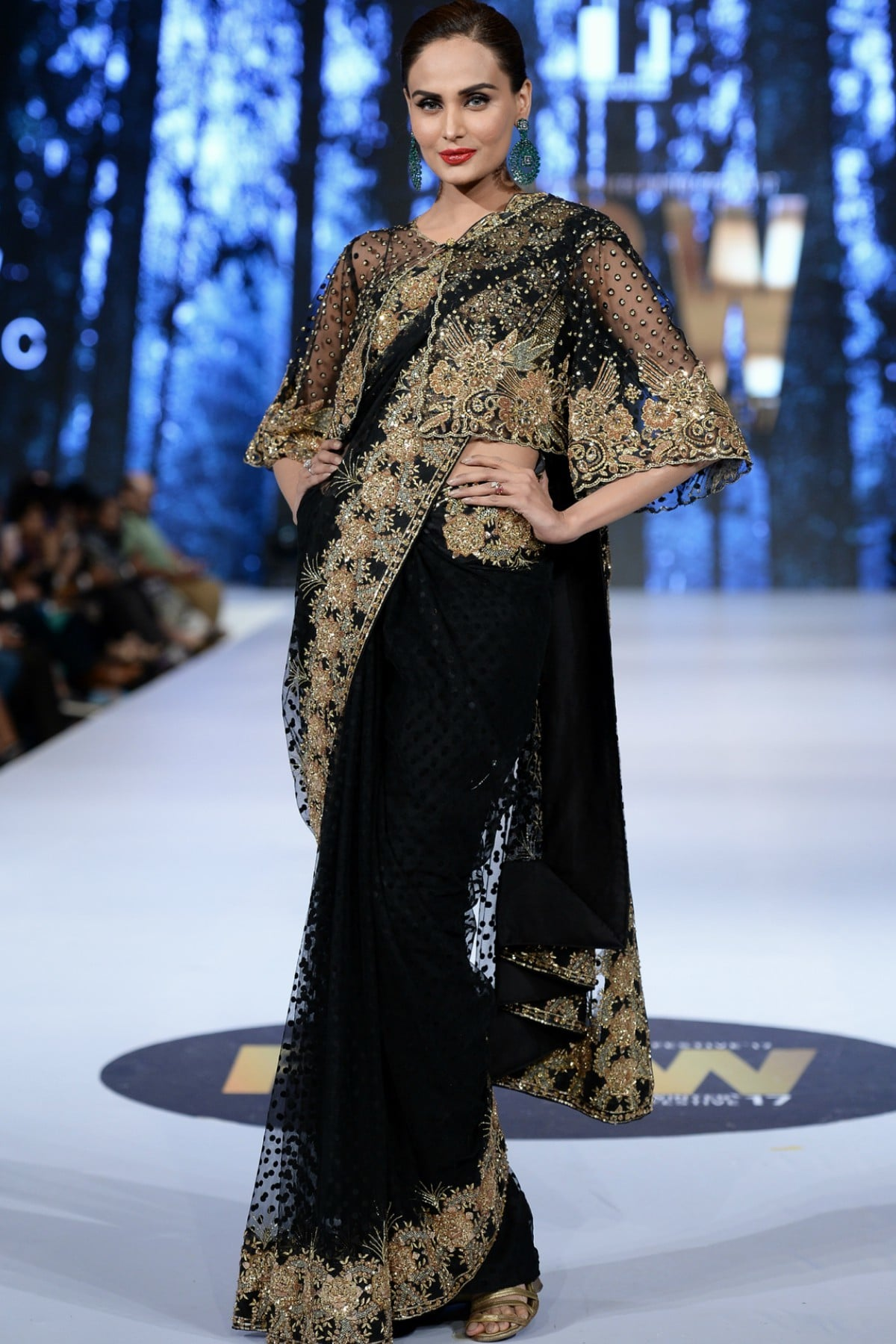 This sari, modelled by Mehreen Syed, was a definite statement maker