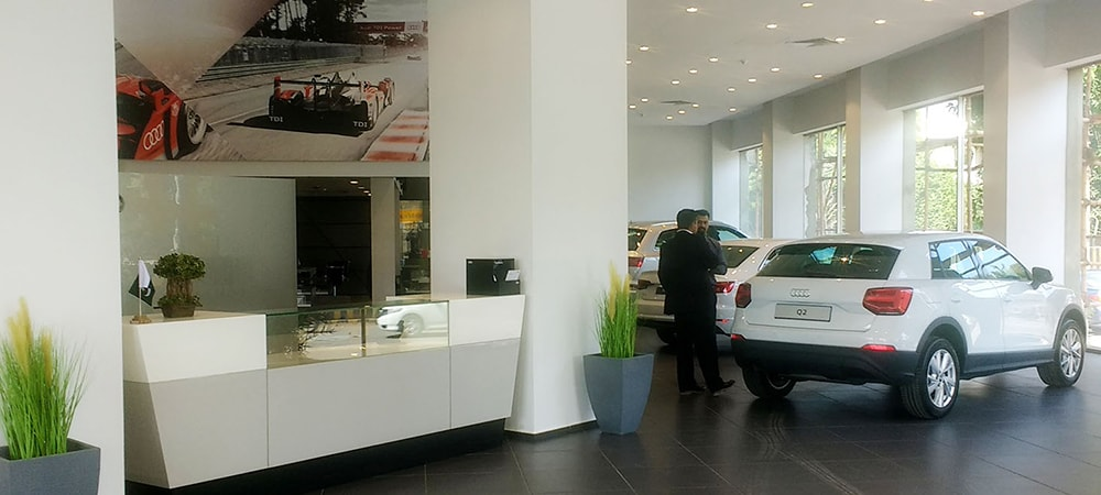 The Audi showroom in Karachi.