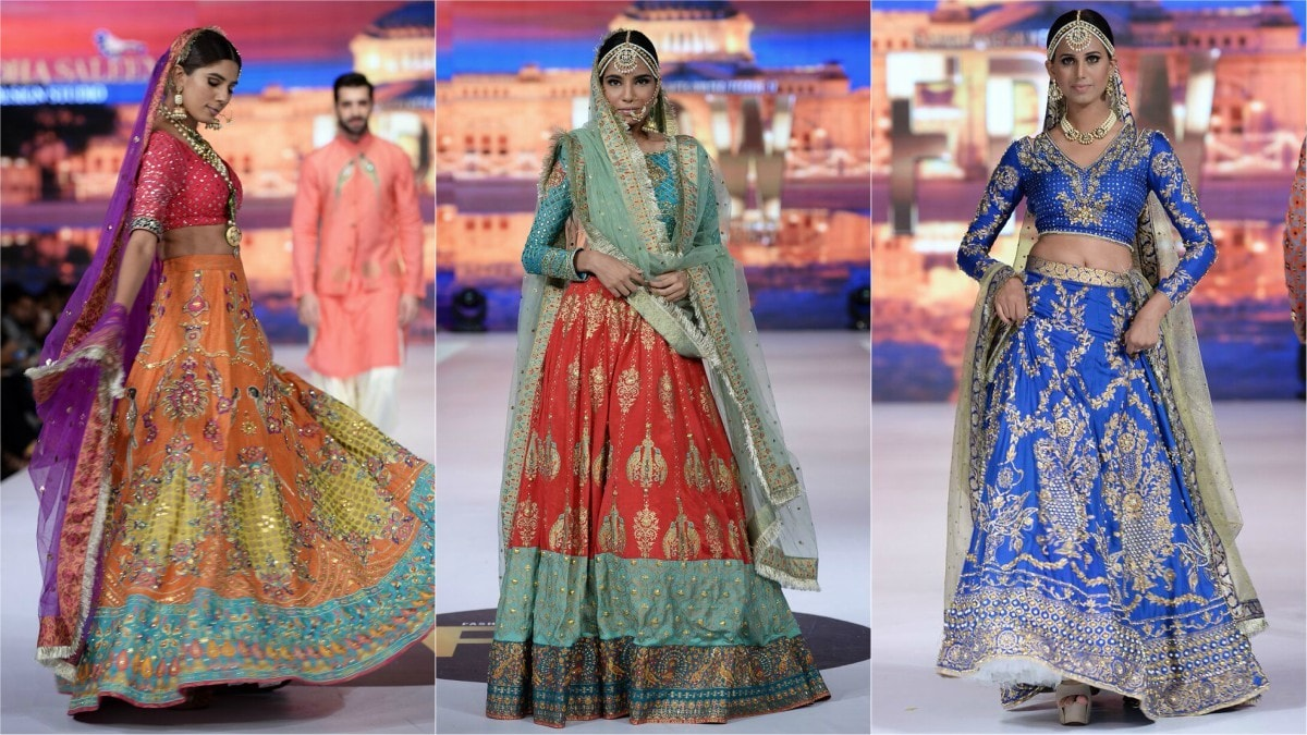 You're sure to feel like a princess in this royal blue Wardha Saleem number (pictured right)